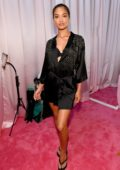 Shanina Shaik seen backstage during the 2018 Victoria's Secret Fashion Show in New York City