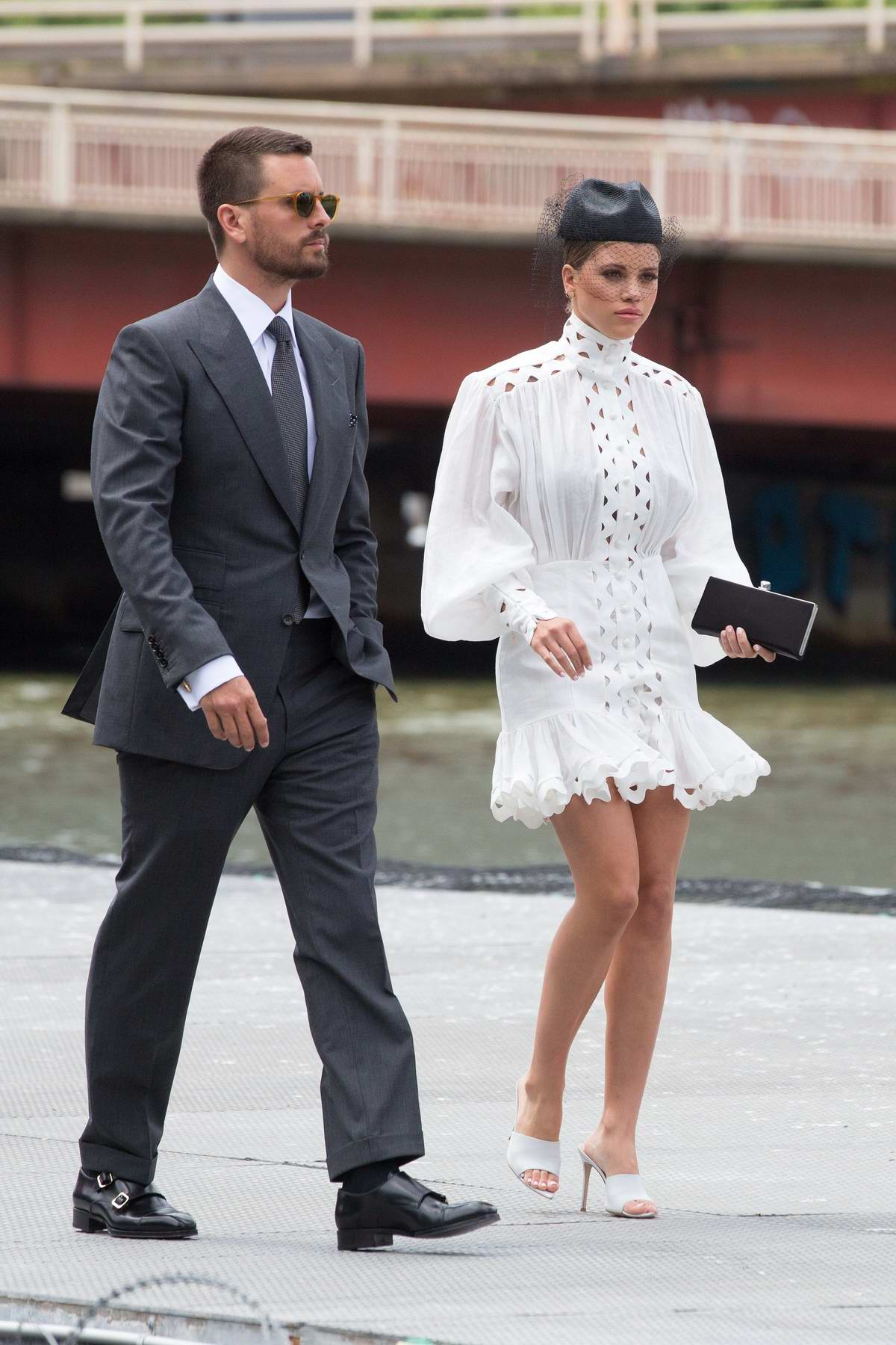 Sofia Richie and Scott Disick board a helicopter to the ...