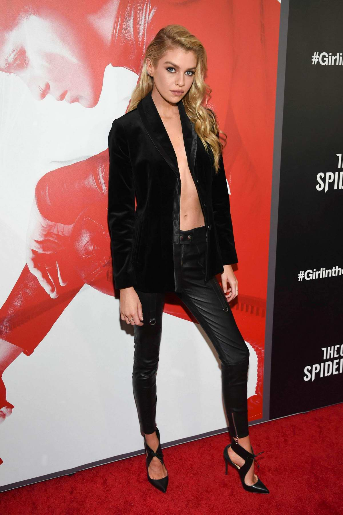 Stella Maxwell attends 'The Girl In The Spider's Web' Special Screening in New York City