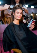 Taylor Hill seen backstage during the 2018 Victoria's Secret Fashion Show in New York City