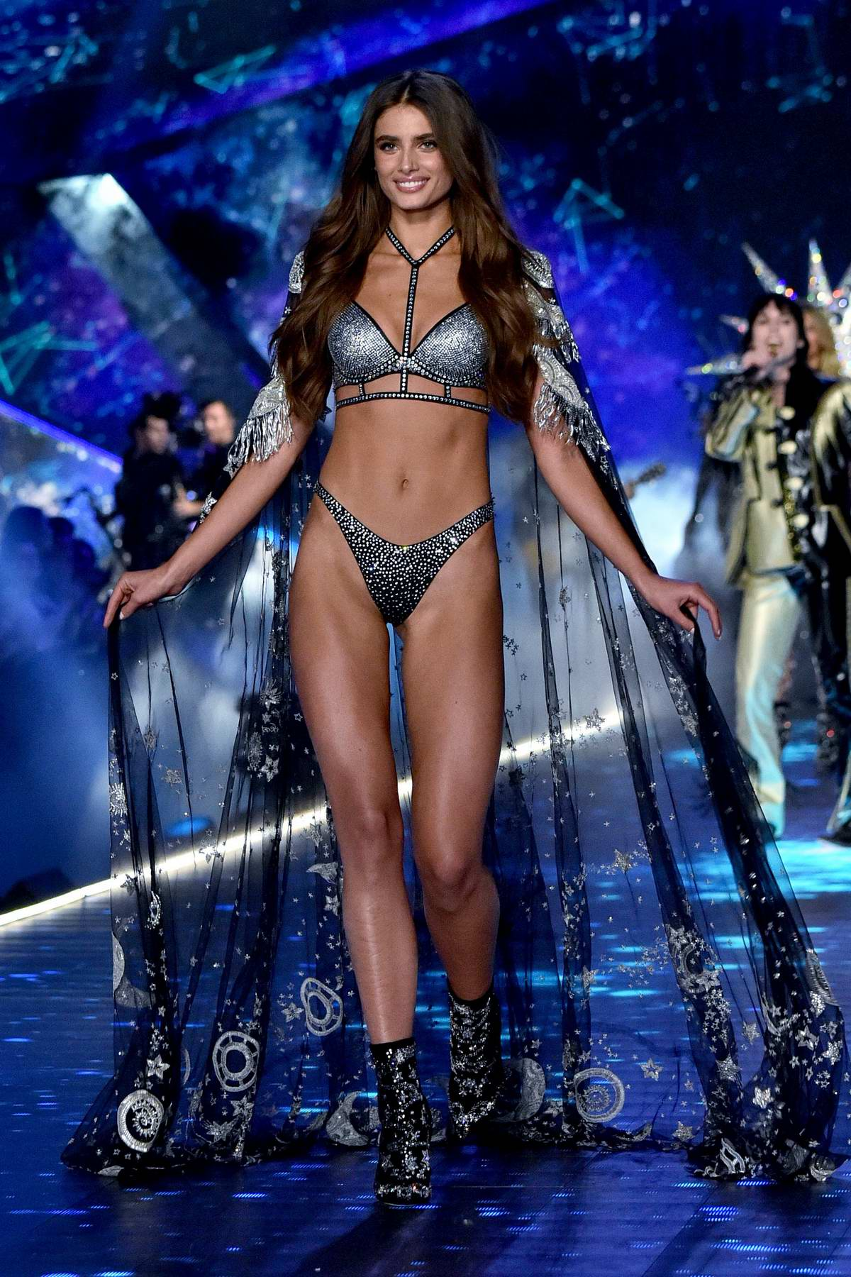 Taylor Hill walks the runway during the 2018 Victoria's Secret Fashion Show at Pier 94 in New York City