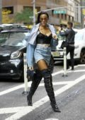 Winnie Harlow attends fittings for the 2018 Victoria's Secret Fashion Show in Midtown in New York City