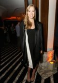 Yvonne Strahovski attends Hulu Holiday Party at Cecconi's restaurant in Los Angeles
