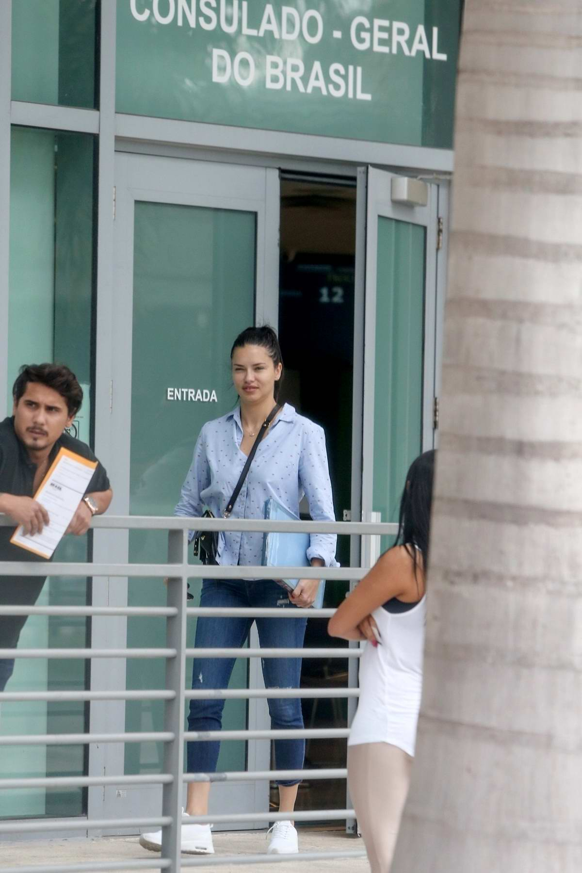 adriana lima spotted with her ex-husband marko jaric at the