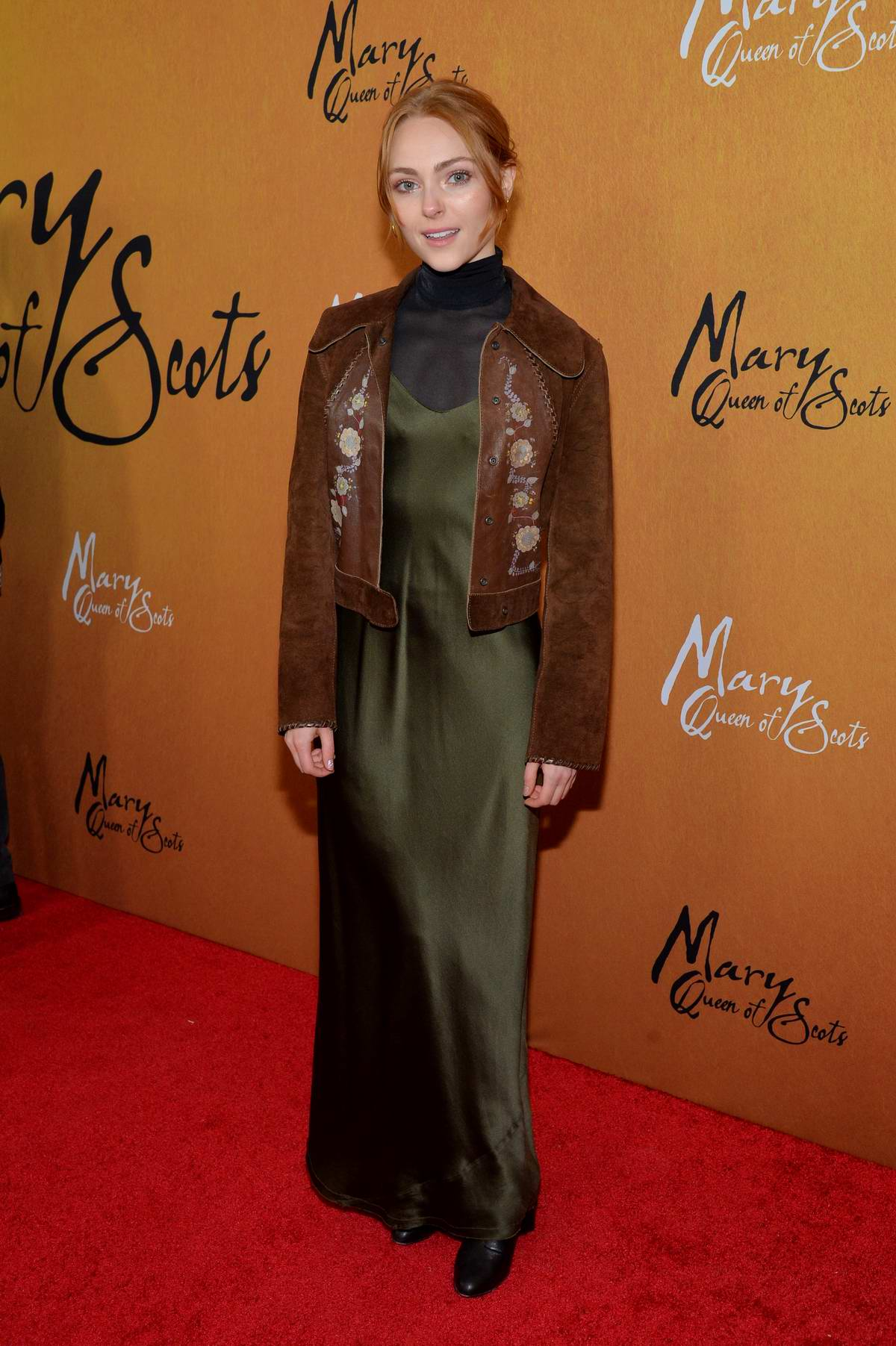 AnnaSophia Robb attends 'Mary, Queen of Scots' film premiere in New York City