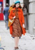 Anne Hathaway dons multiple retro outfits while filming upcoming series 'Modern Love' in New York City