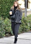 Elizabeth Olsen rocked all black while out to grab a coffee at Alfred's Coffee in Studio City, Los Angeles