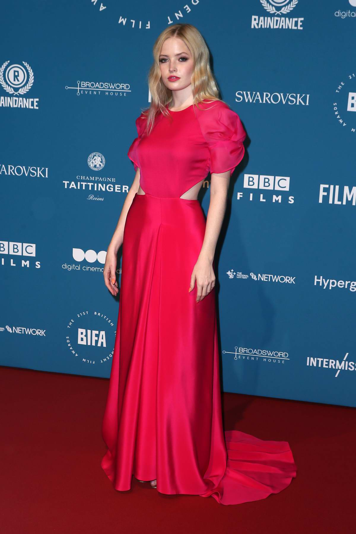 Ellie Bamber attends the 21st British Independent Film Awards (BIFA 2018) in London, UK