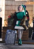 Emilia Clarke spotted wearing an elf costume while filming 'Last Christmas' in London, UK