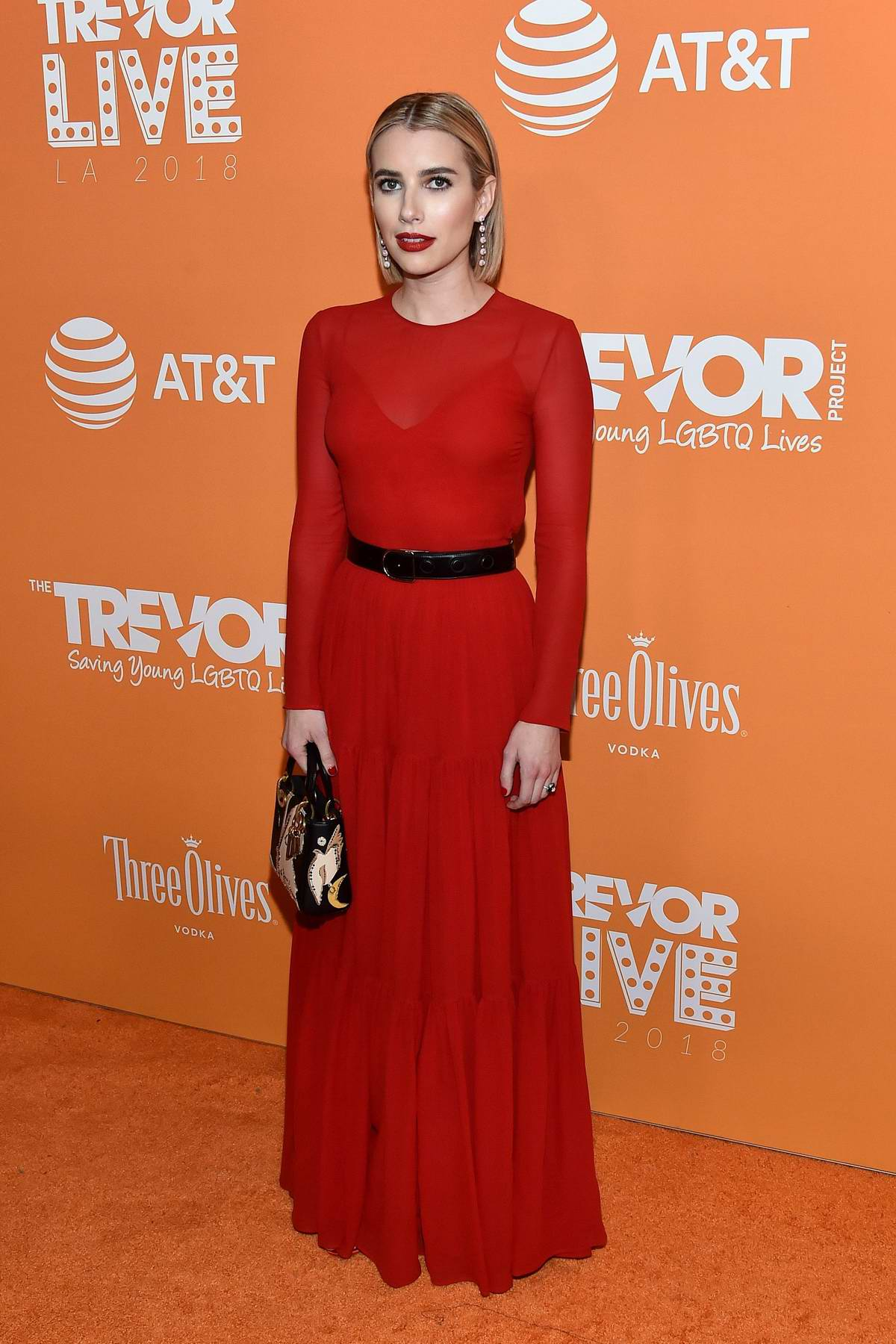 Emma Roberts attends the TrevorLIVE LA 2018 in Los Angeles