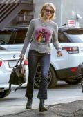 Emma Roberts seen leaving Nine Zero One salon in West Hollywood, Los Angeles