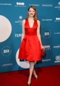 Emma Stone attends the 21st British Independent Film Awards (BIFA 2018) in London, UK
