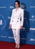 Felicity Jones attends the 21st British Independent Film Awards (BIFA 2018) in London, UK