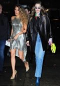 Gigi Hadid and Blake Lively leaves the Versace Pre-Fall 2019 Fashion Show in New York City