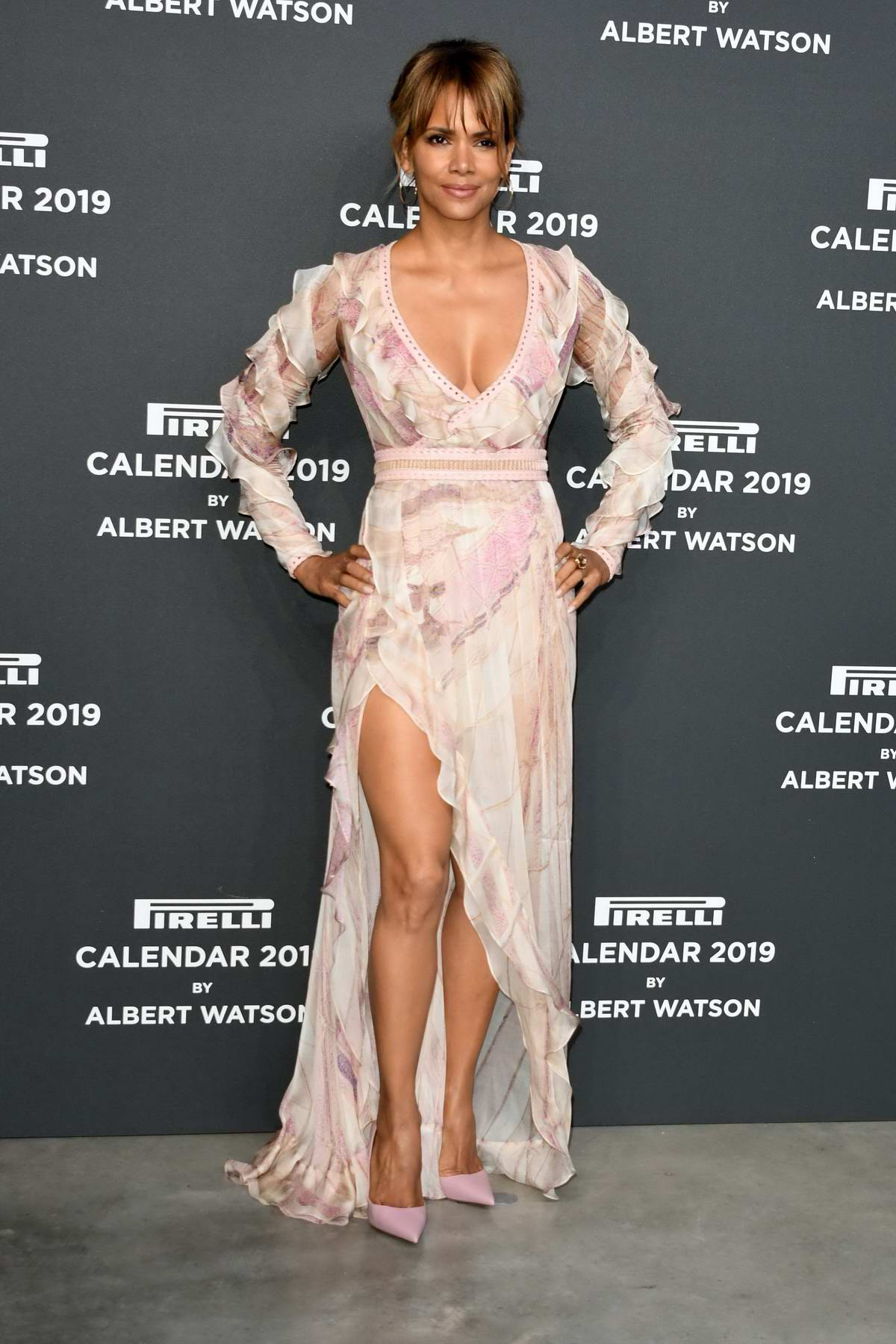 Halle Berry attends 2019 Pirelli Calendar launch gala at Hangar Bicocca in Milan, Italy