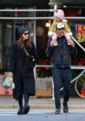 Irina Shayk and Bradley Cooper seen heading to a park with their daughter in New York City