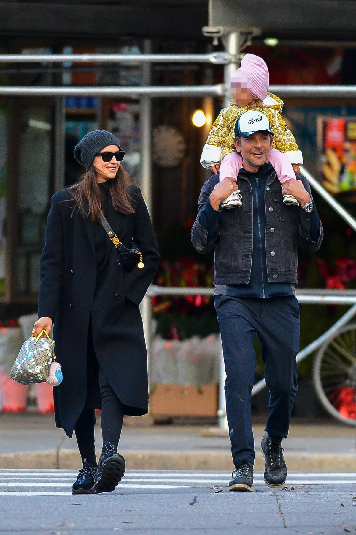 Irina Shayk and Bradley Cooper seen heading to a park with their daughter in New York