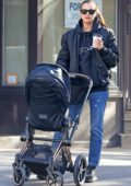 Irina Shayk steps out for a stroll with her daughter in New York City
