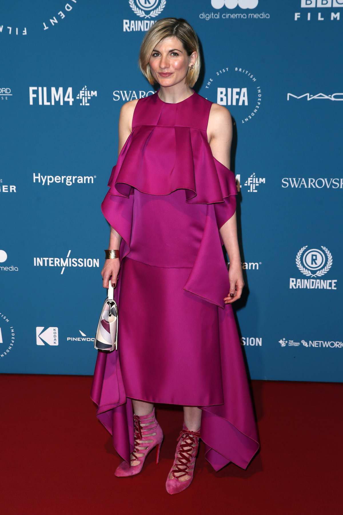 Jodie Whittaker attends the 21st British Independent Film Awards (BIFA 2018) in London, UK