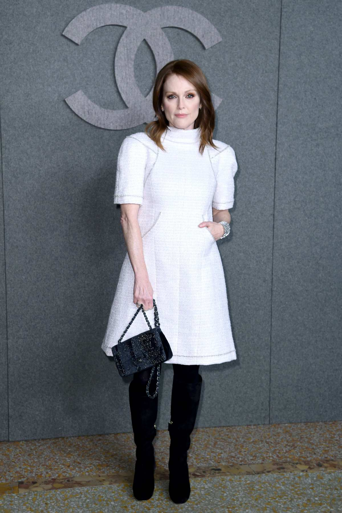 Julianne Moore attends the Chanel Metiers d'Art Pre-Fall 2019 Fashion Show in New York City