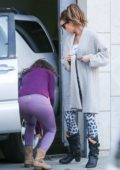 Kate Beckinsale and her assistant get into a minor car accident while exiting the gym in Los Angeles