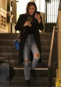 Katharine McPhee steps out in the rain for some shopping in Los Angeles