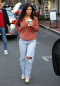 Kourtney Kardashian stops by Alfred's Coffee to grab a coffee in West Hollywood, Los Angeles