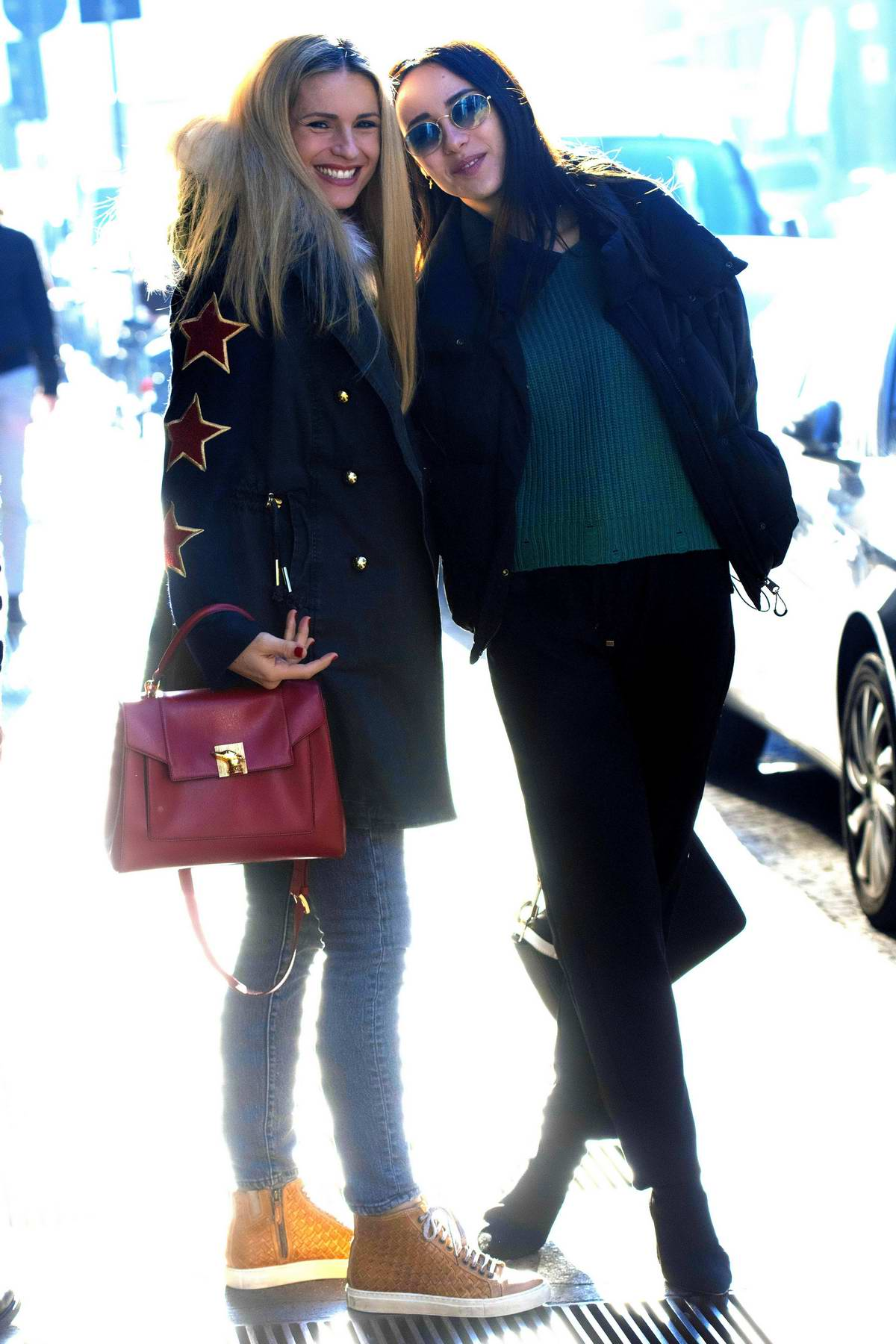 Michelle Hunziker and daughter Aurora Ramazzotti is all smiles while out in Milan, Italy