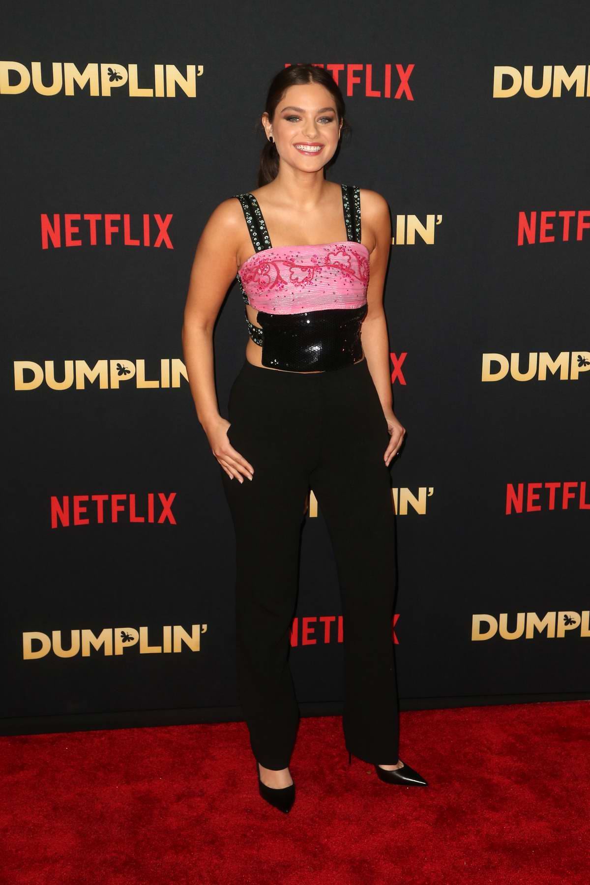 Odeya Rush attends the Premiere of Netflix's Dumplin' at TCL Chinese Theatre in Hollywood, California