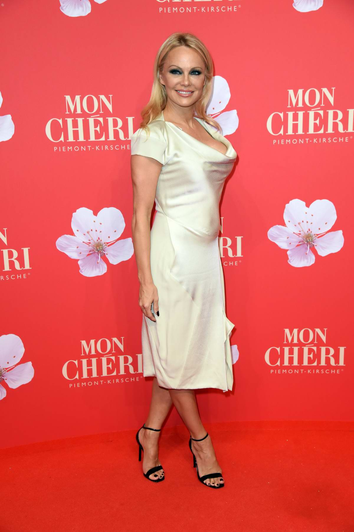 Pamela Anderson attends the Mon Cheri Barbara Tag in Munich, Germany