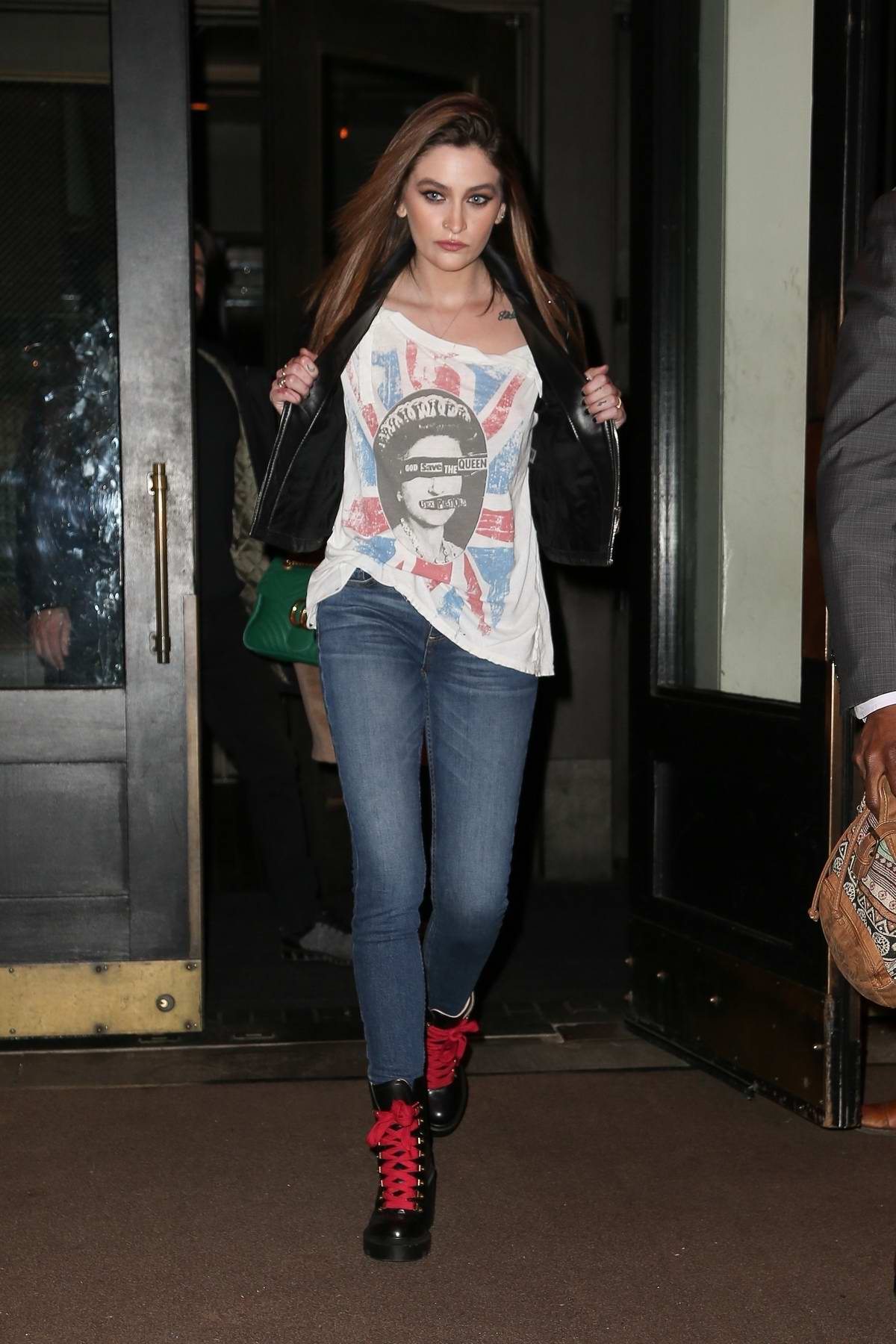 Paris Jackson shows off her 'God Save The Queen' top as she steps out in New York City