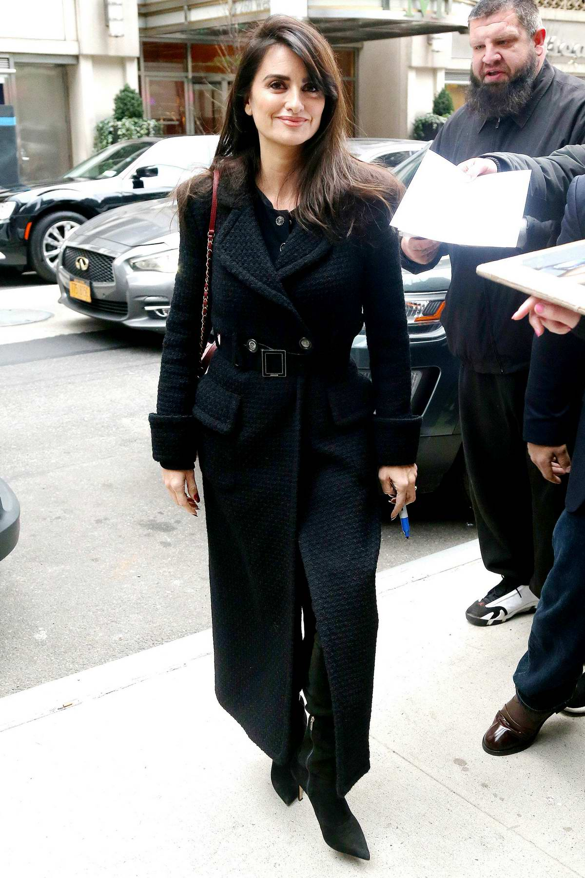Penelope Cruz looks stunning in all black as she steps out in New York City