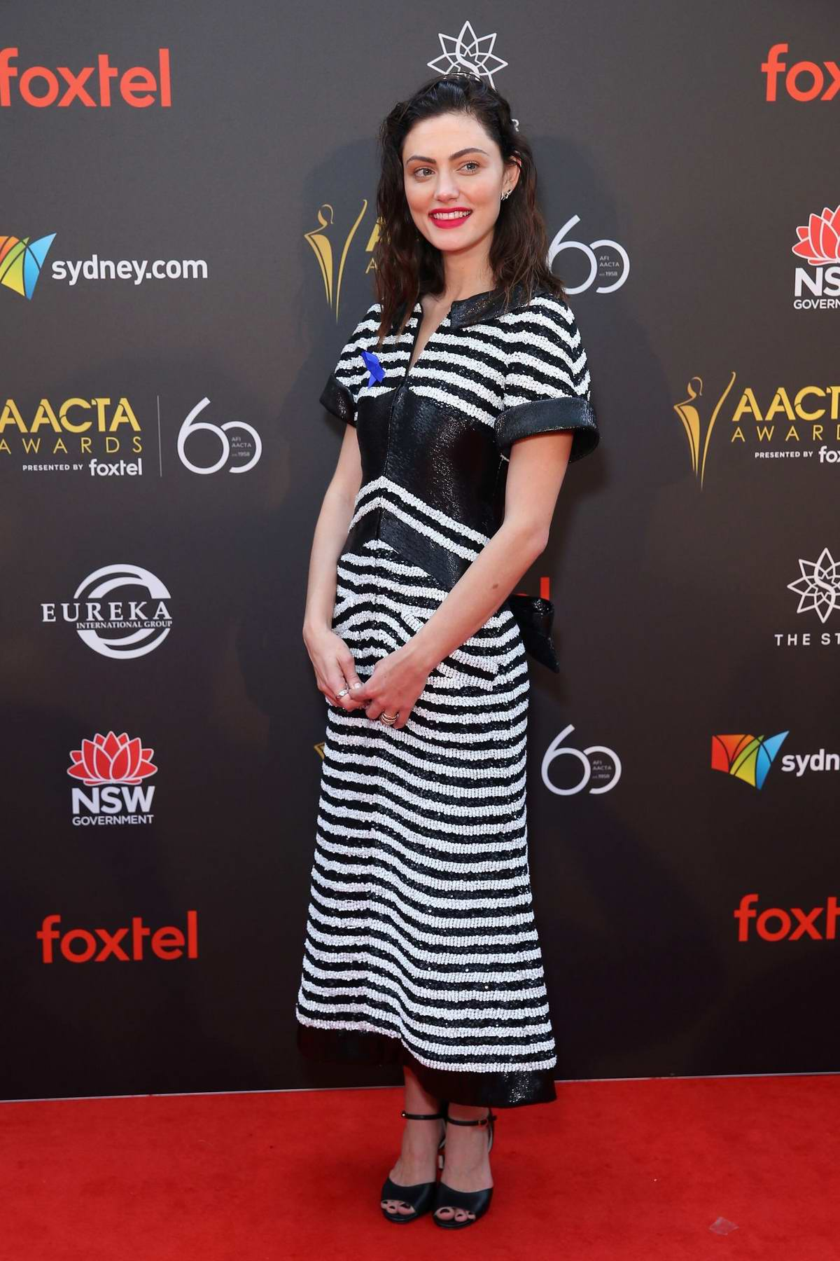 Phoebe Tonkin attends the 2018 AACTA Awards in Sydney, Australia