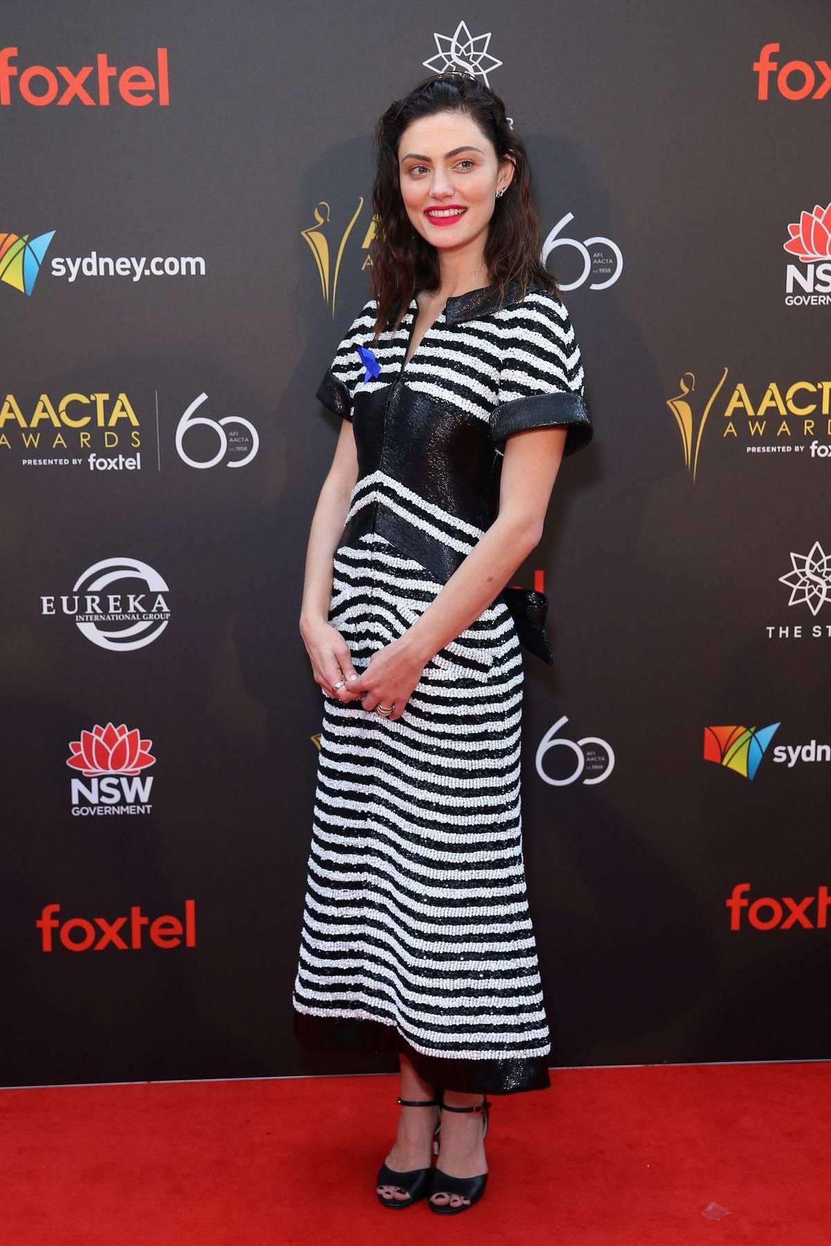 Phoebe Tonkin attends the 2018 AACTA Awards in Sydney, Australia