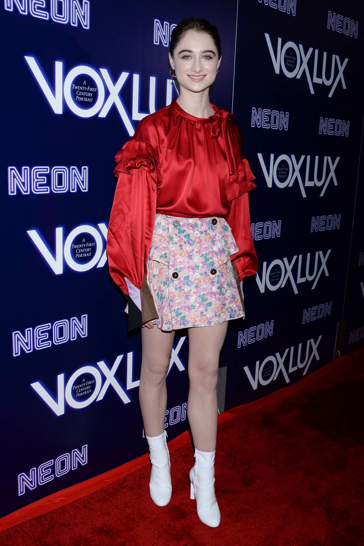 Raffey Cassidy attends 'Vox Lux' Premiere in Hollywood, California