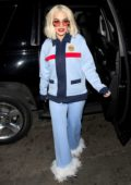 Rita Ora sports a retro look as she arrives for a surprise show at The Abbey Club in West Hollywood, Los Angeles