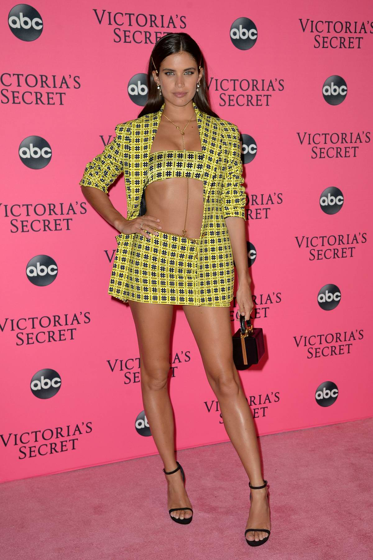Sara Sampaio attends the 2018 Victoria's Secret Fashion Show Viewing Party at Spring Studios in New York City