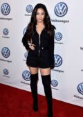 Vanessa Hudgens attends the Volkswagen's Annual Holiday Drive-In at Goya Studios in Los Angeles