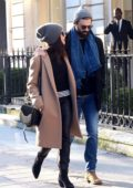 Abigail Spencer is all smiles while out with her boyfriend during Paris Fashion Week in Paris, France