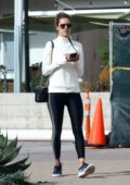 Alessandra Ambrosio stops by at Sunlife Organics for an Acai Bowl in Malibu, California