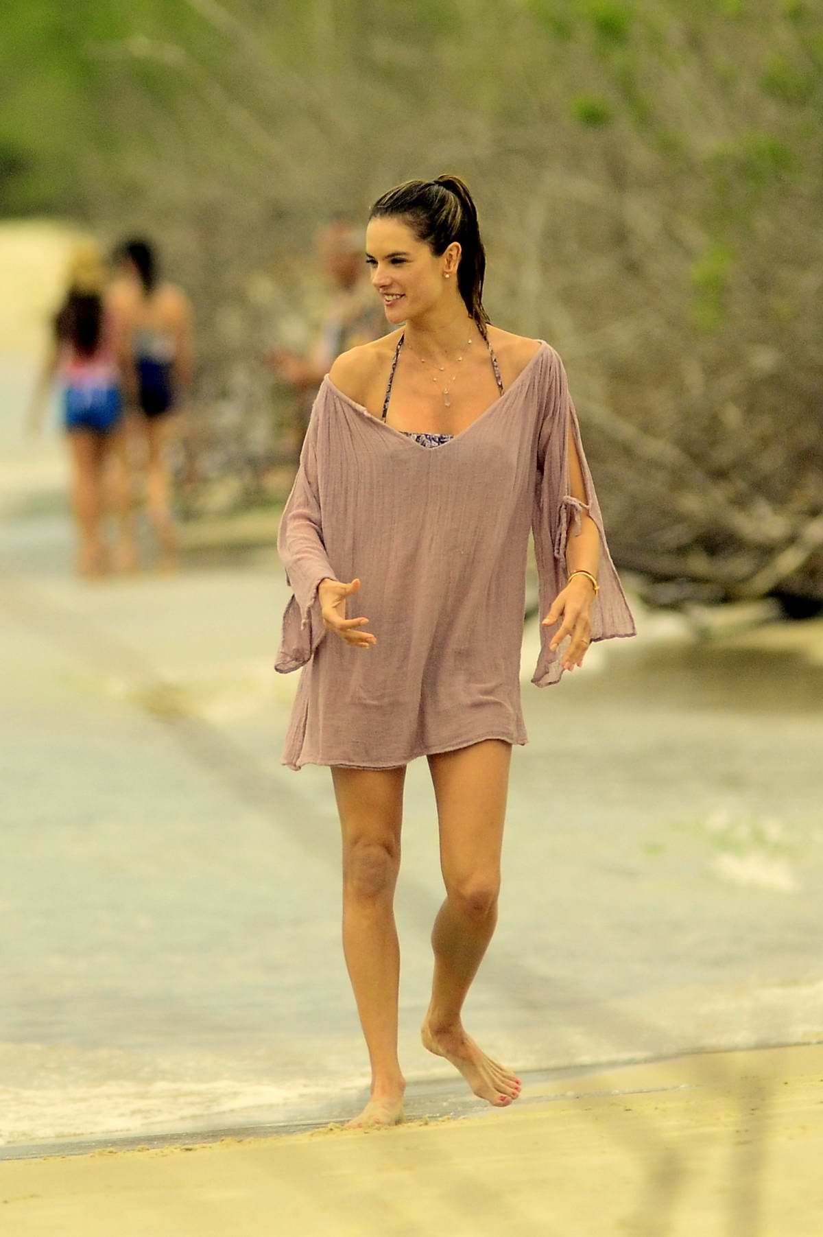 Alessandra Ambrosio on a Beach in Rio de Janeiro - GotCeleb