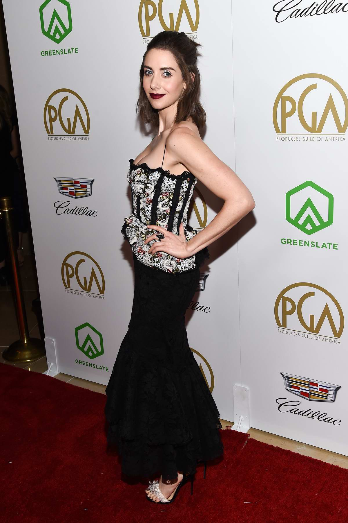 Alison Brie attends the 30th Annual Producers Guild Awards at The Beverly Hilton Hotel in Los Angeles