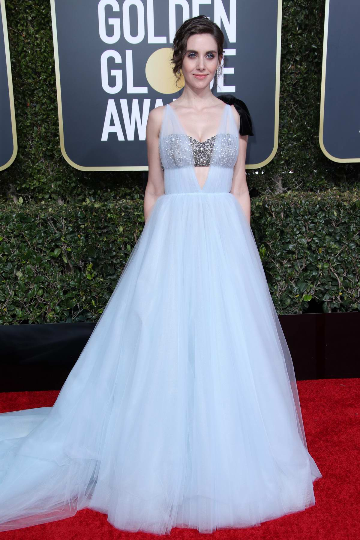 Alison Brie attends the 76th Annual Golden Globe Awards held at The Beverly Hilton Hotel in Los Angeles, California
