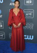 Amandla Stenberg attends the 24th Annual Critics' Choice Awards at Barker Hangar in Santa Monica, California