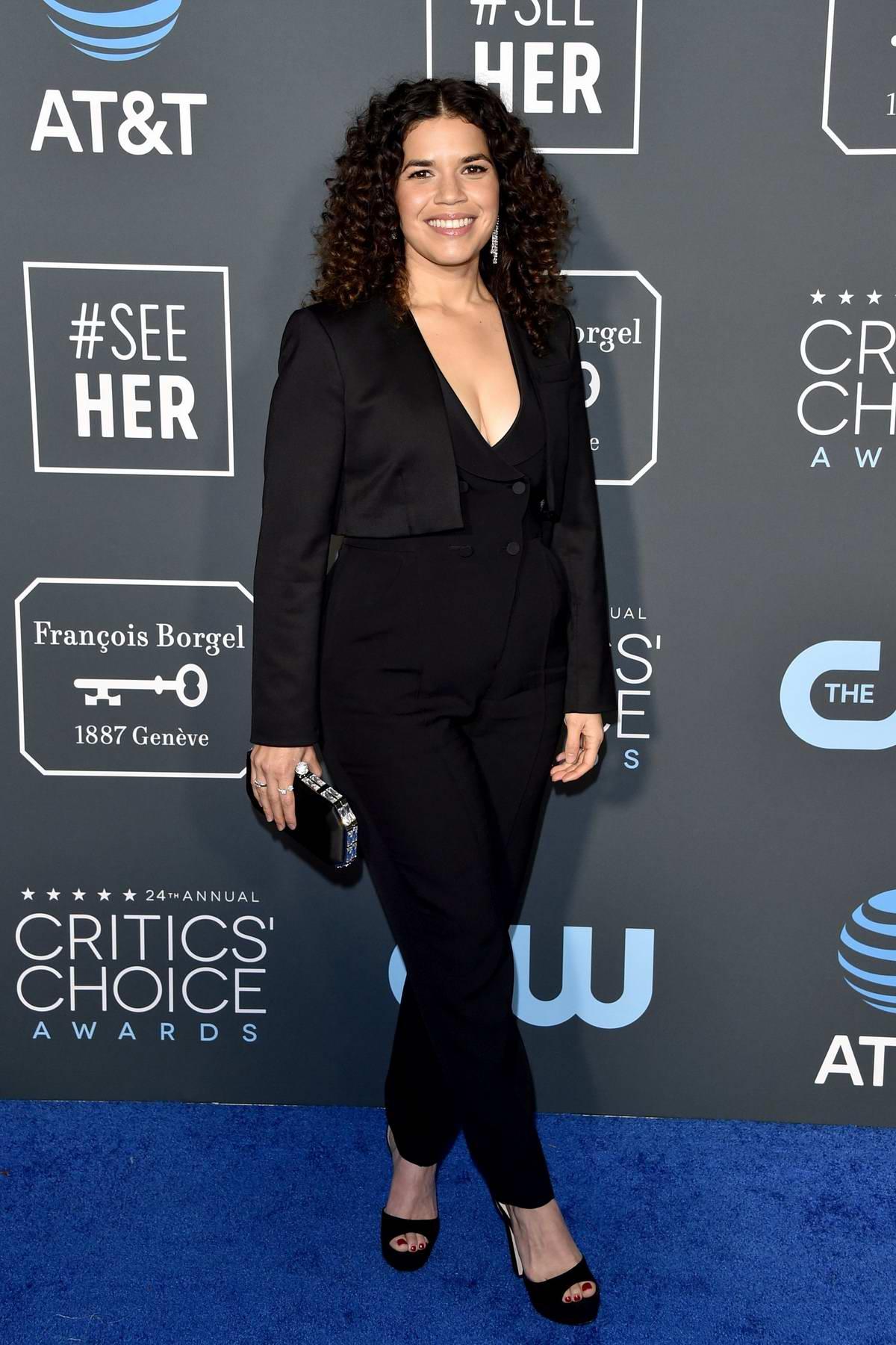 America Farrera attends the 24th Annual Critics' Choice Awards at Barker Hangar in Santa Monica, California