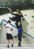 Angelina Jolie takes her twins Knox and Vivienne rock climbing in Los Angeles