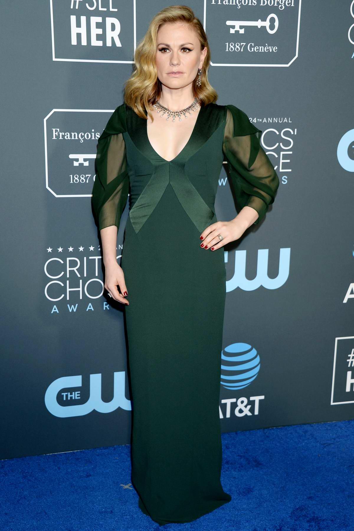 Anna Paquin attends the 24th Annual Critics' Choice Awards at Barker Hangar in Santa Monica, California