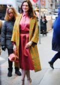 Anne Hathaway arrives at 'Good Morning America' in New York City
