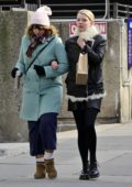 Anya Taylor-Joy wore a fur-lined leather jacket during a shopping trip with a friend on a chilly day in New York City