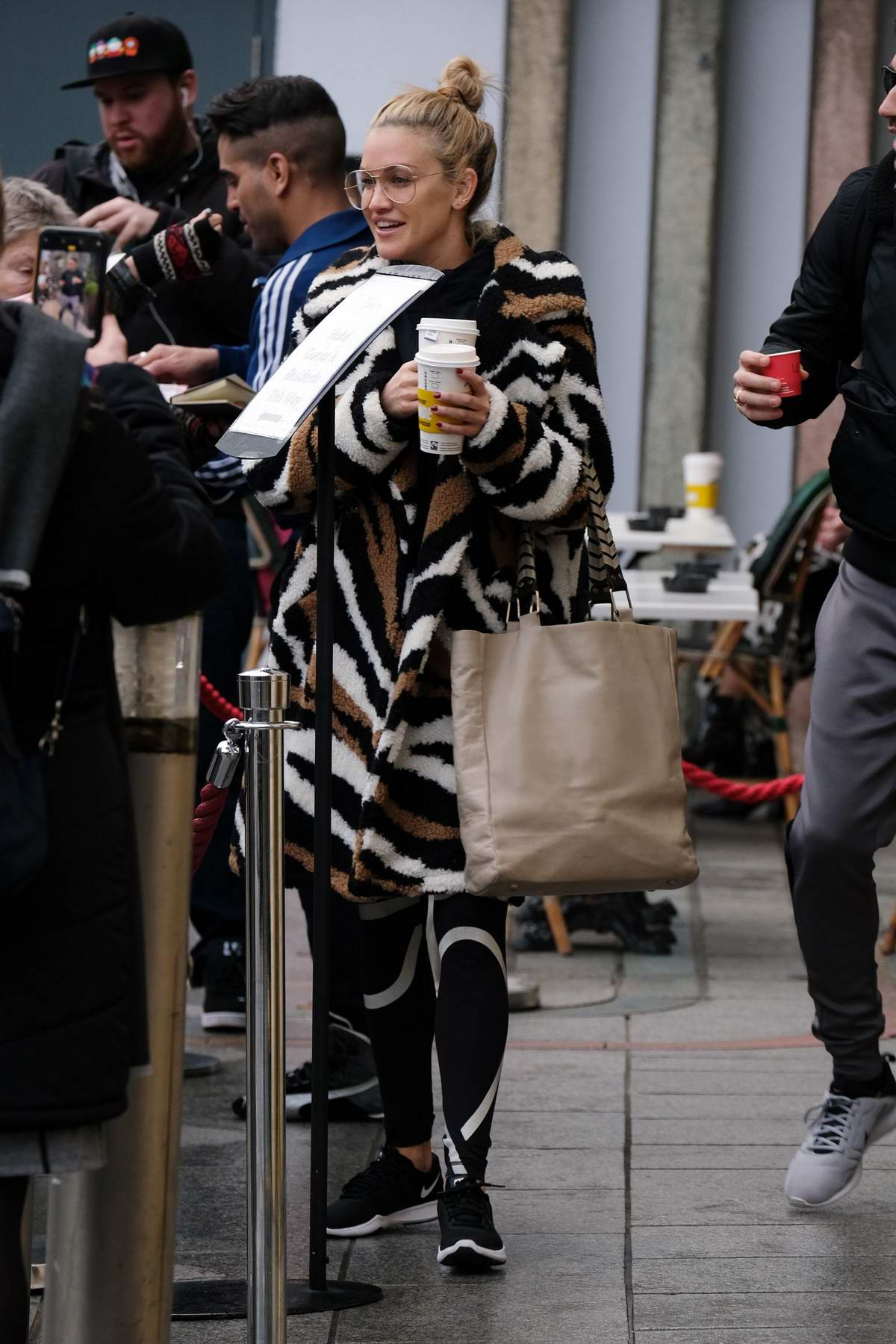 Ashley Roberts seen leaving a hotel as she heads to 'Strictly Come Dancing' rehearsals in Birmingham, UK